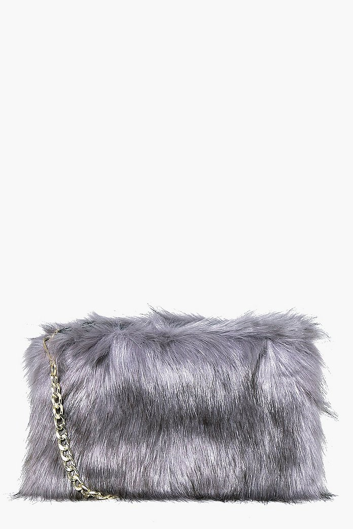 Mia Faux Fur Cross Body Bag