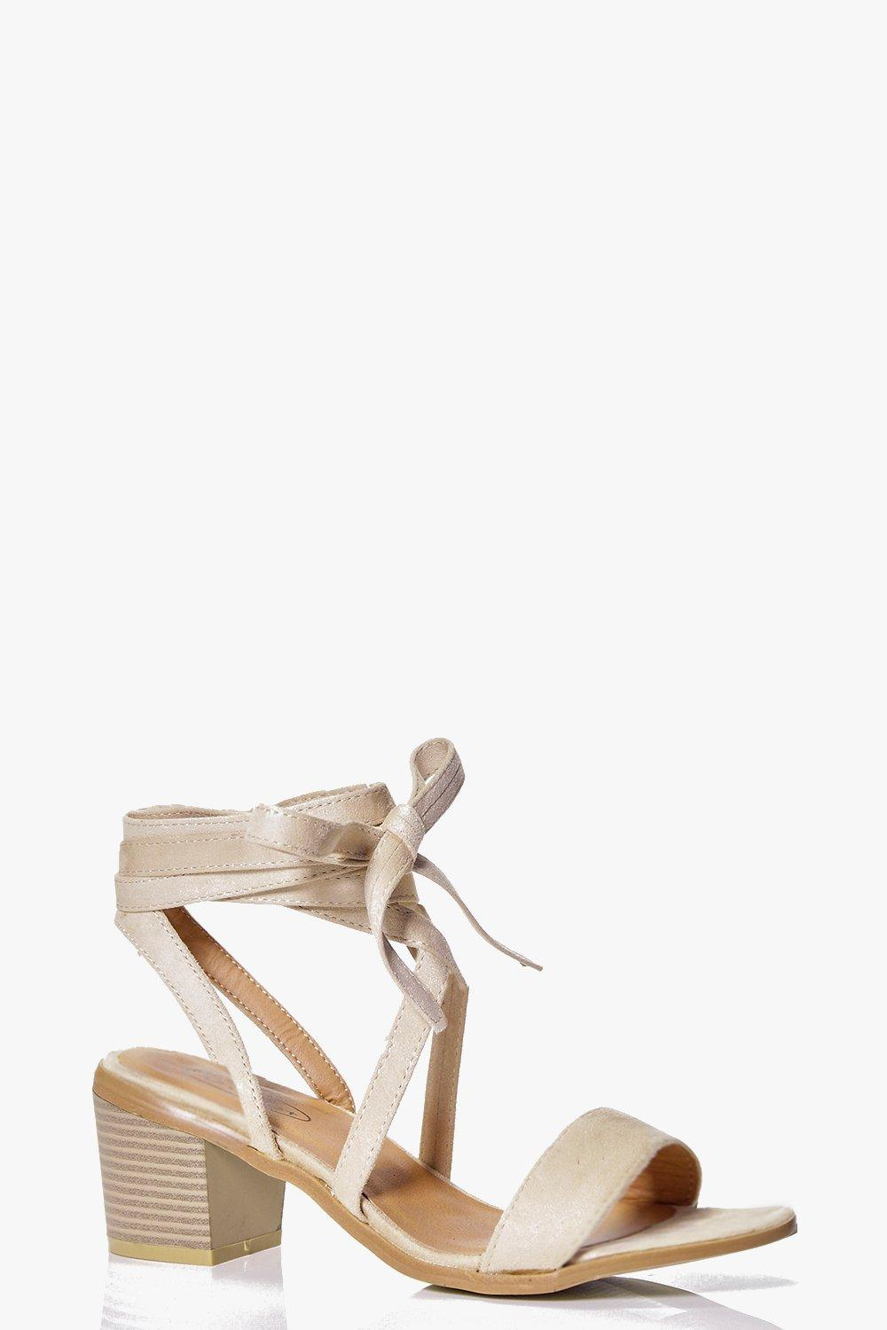 Paige Low Block Wrap Strap Heel