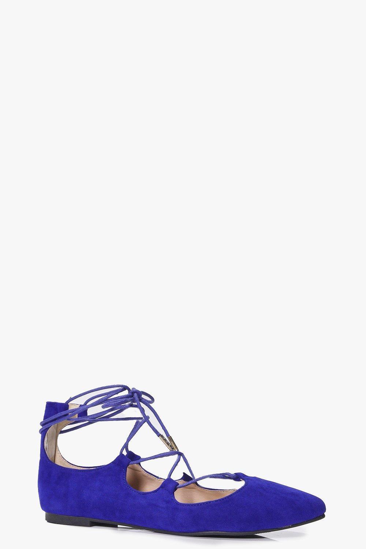 Ghillie Pointed Ballet Flat - cobalt
