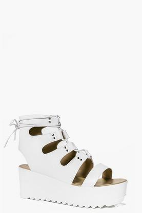 Tia Ghillie Lace Up Flatform Wedge
