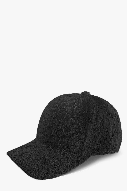 Crochet Lace Baseball Cap - black - Stay snug in s