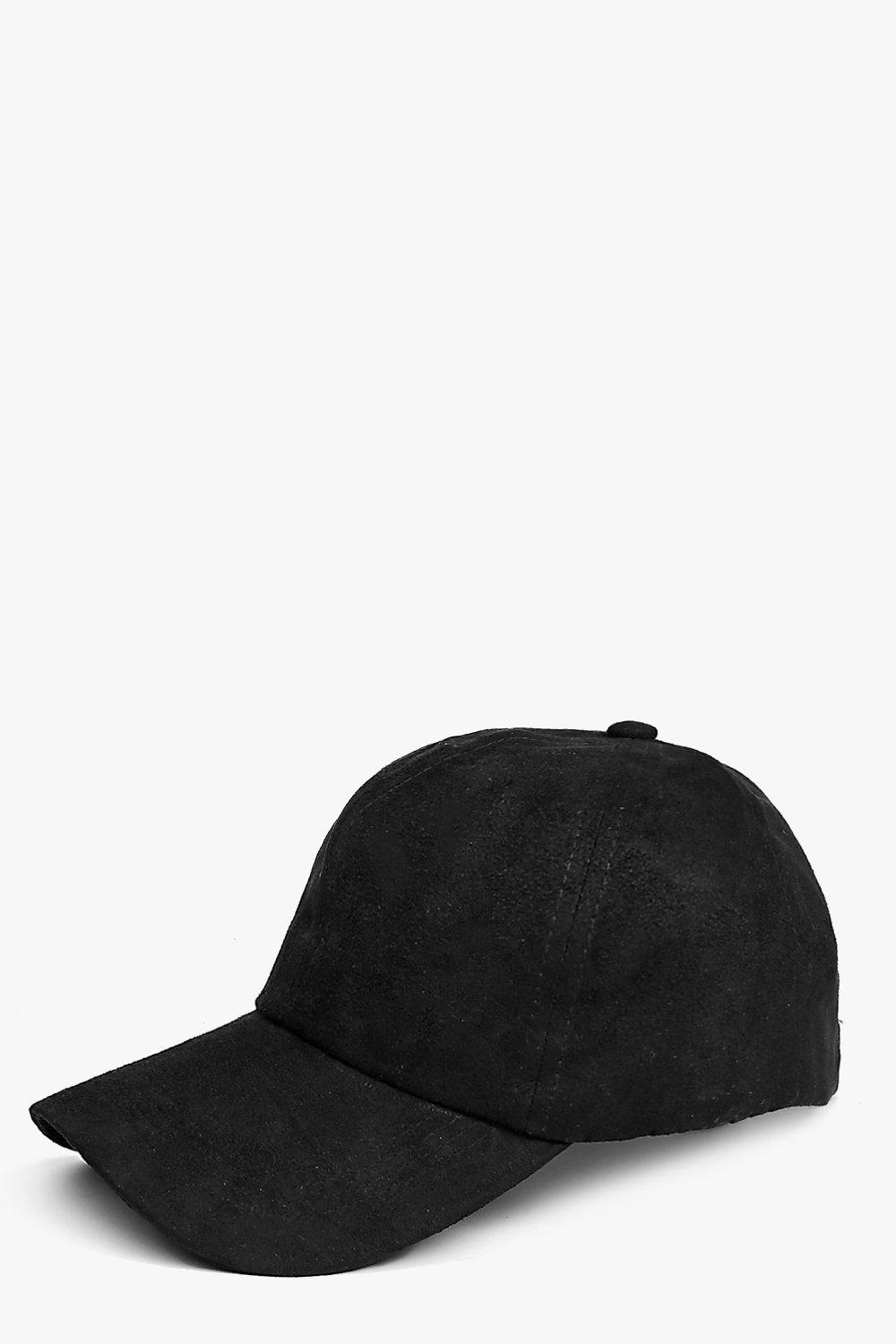 Suedette Baseball Cap - black - Stay snug in scarv