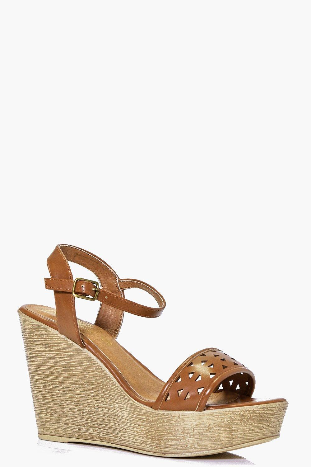 Orla Lazer Cut Two Part Wedge