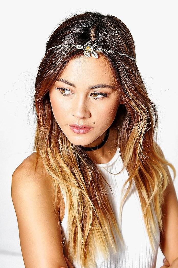 Emilia Skinny Delicate Flower Head Chain