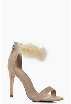Kara Feather Ankle Band Stiletto