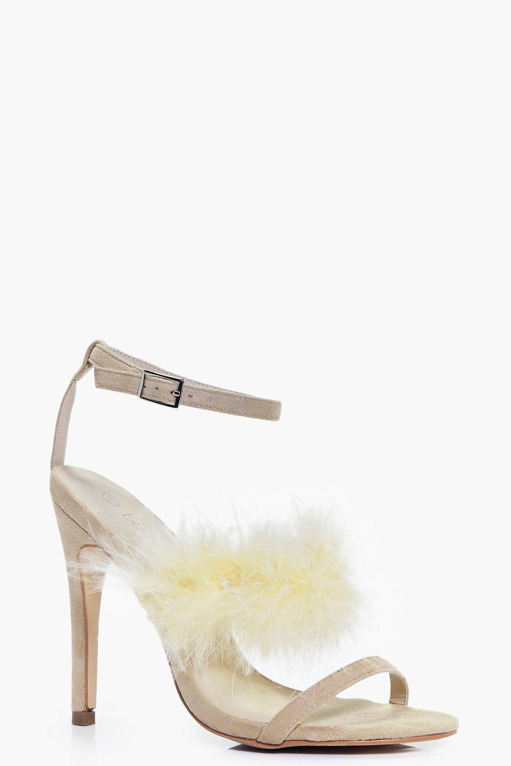Clara Feather Strap Stiletto Sandal