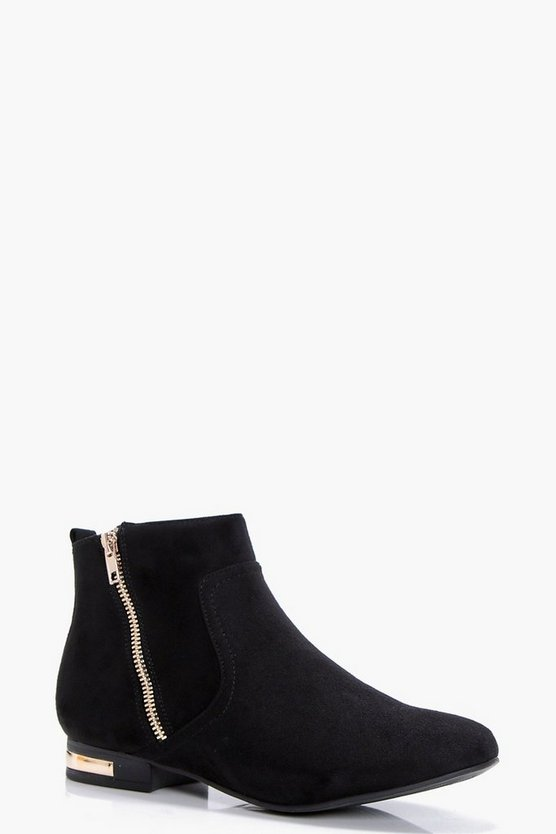 Olivia Zip Detail Chelsea Boot