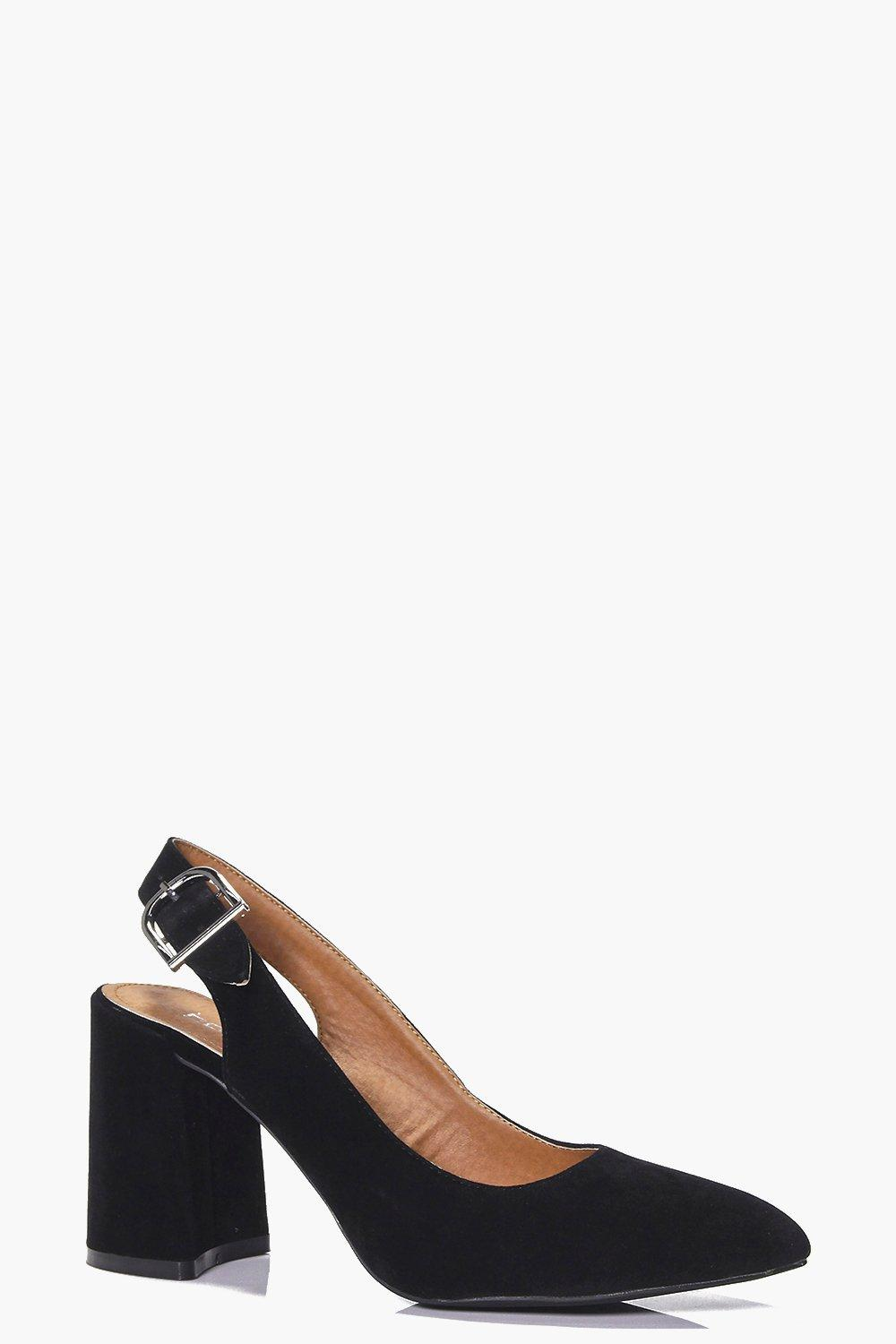 Leah Pointed Block Heel Slingback