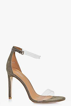 Eliza Clear Strap Two Part Sandal