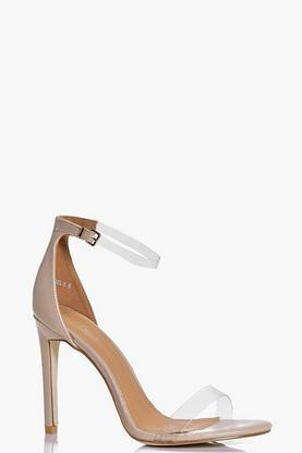 Evelyn Clear Strap Two Part Sandal