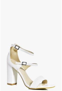 Amber Triple Band Block Heels