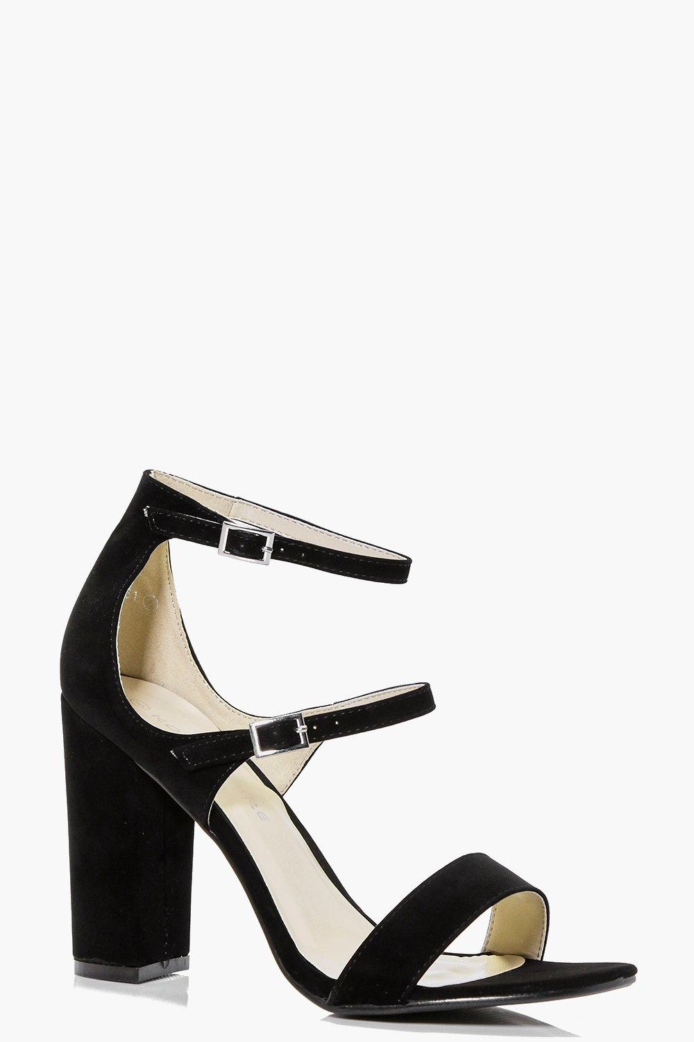 Nicole Triple Band Block Heels