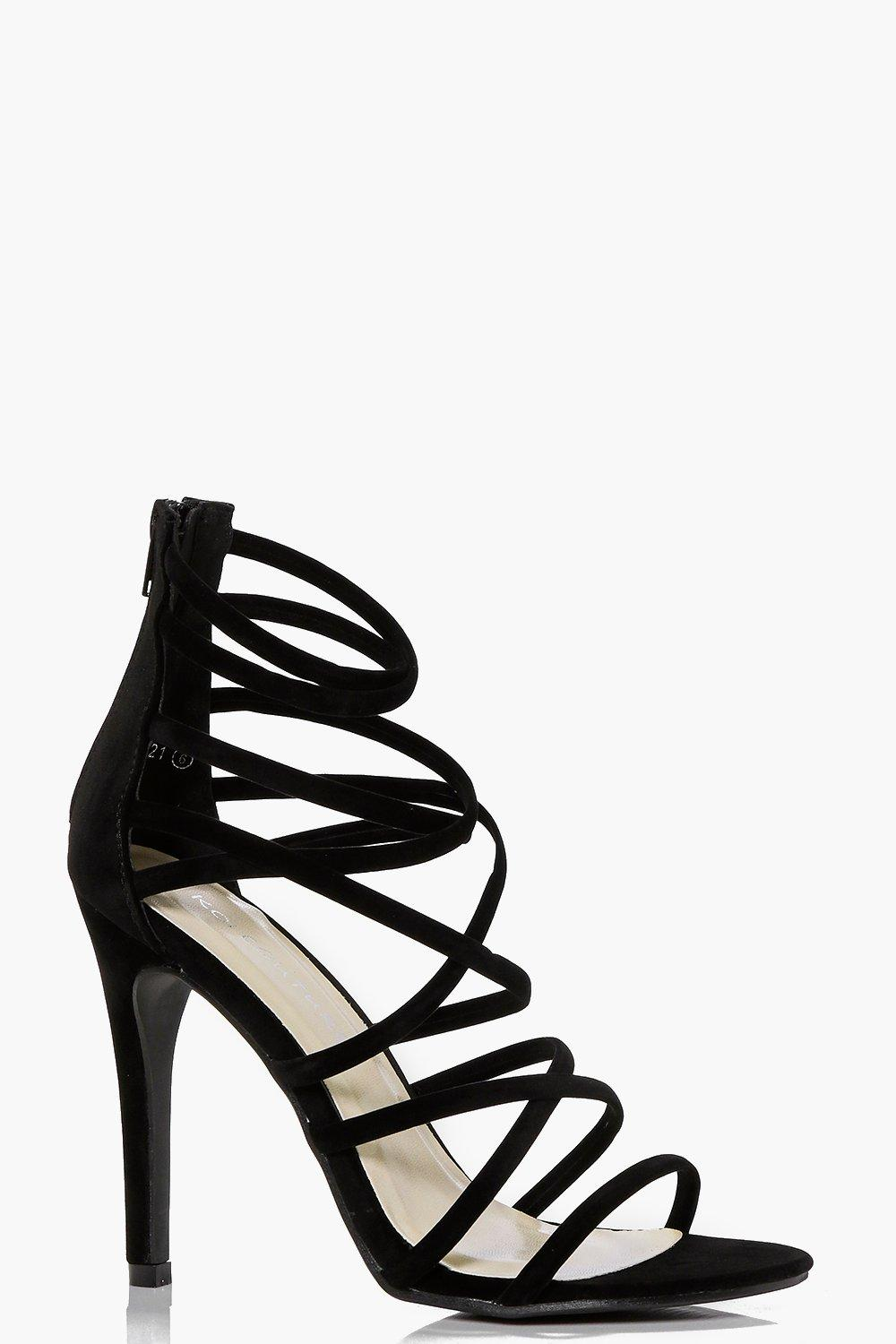 Multi Strap Tie Stiletto black
