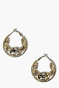 Maisy Multi Stone Small Hoop Earrings