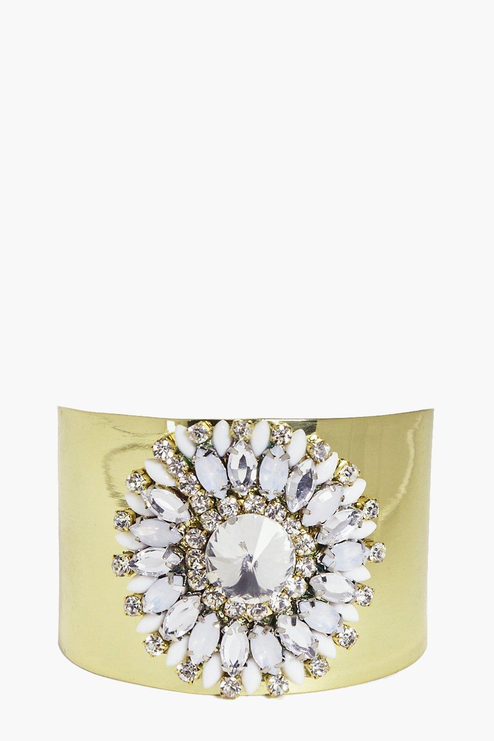 Mya Large Diamante Embellished Cuff
