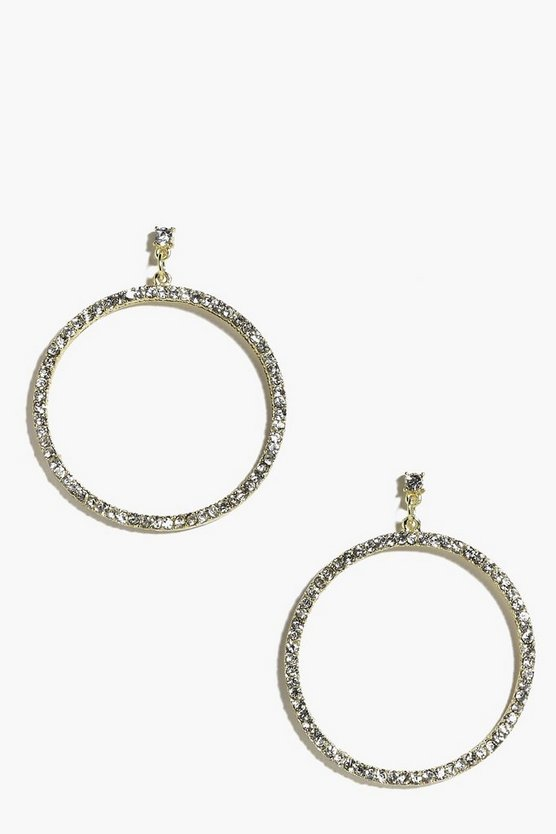 Tia Diamante Stud And Hoop Earrings