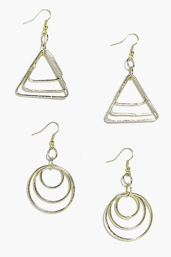 Phoebe 2 Pack Mixed Shape Earrings