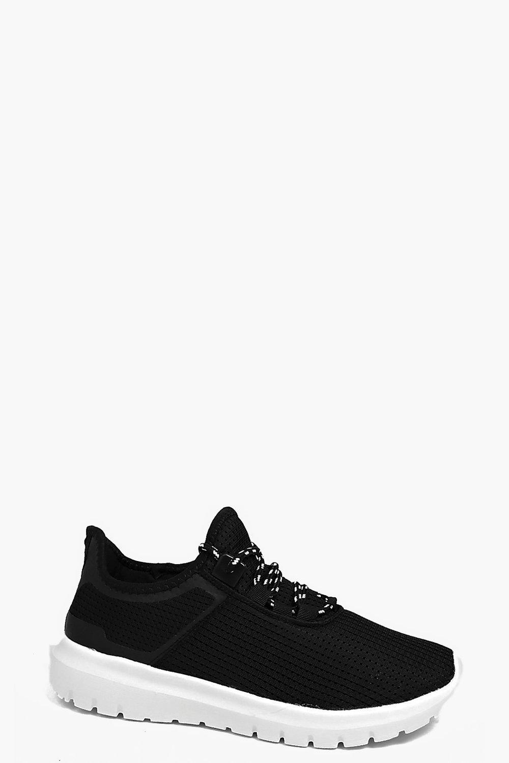 Abigail Perforated Lace Up Trainer