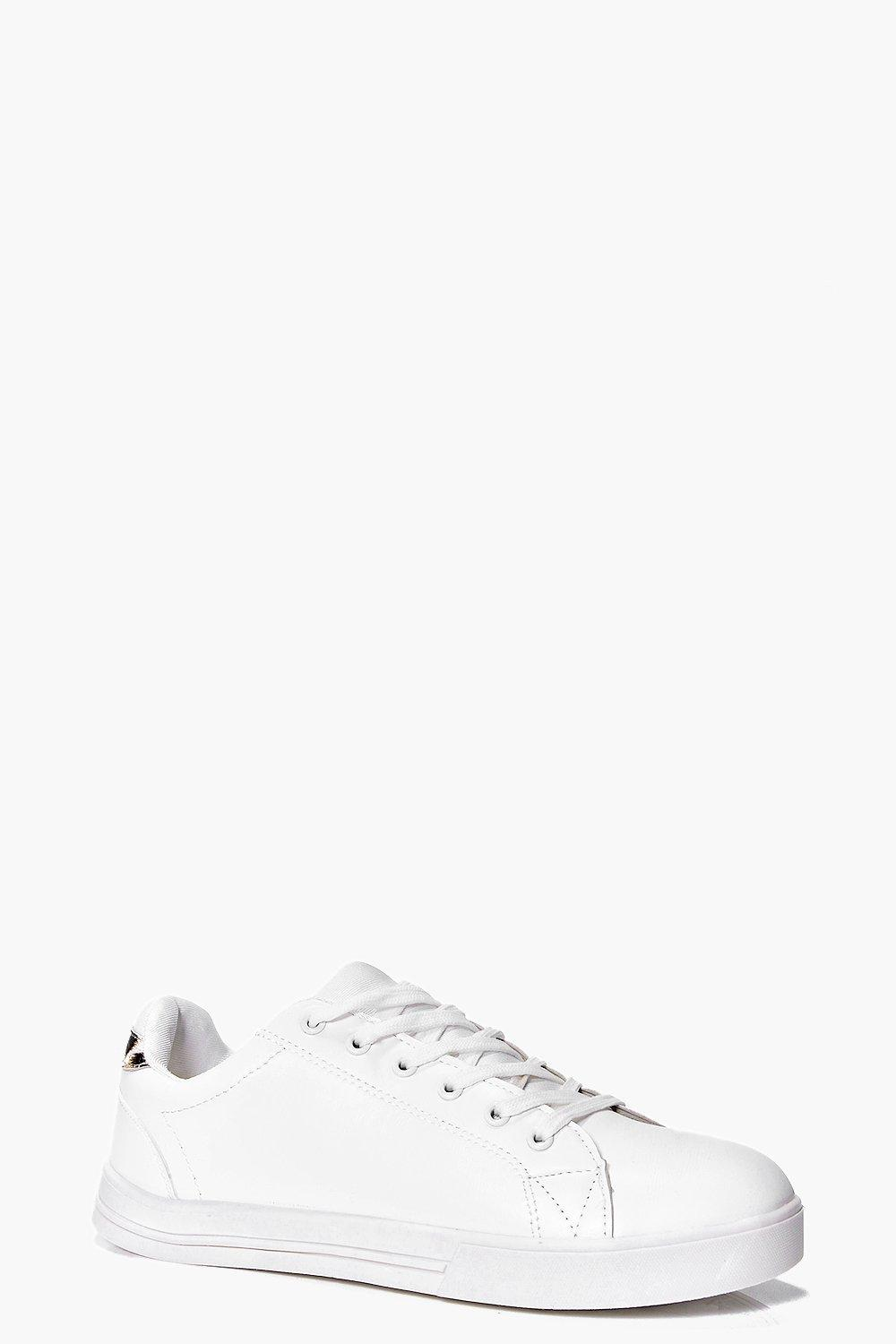 Rebecca Animal Detail Lace Up Trainer