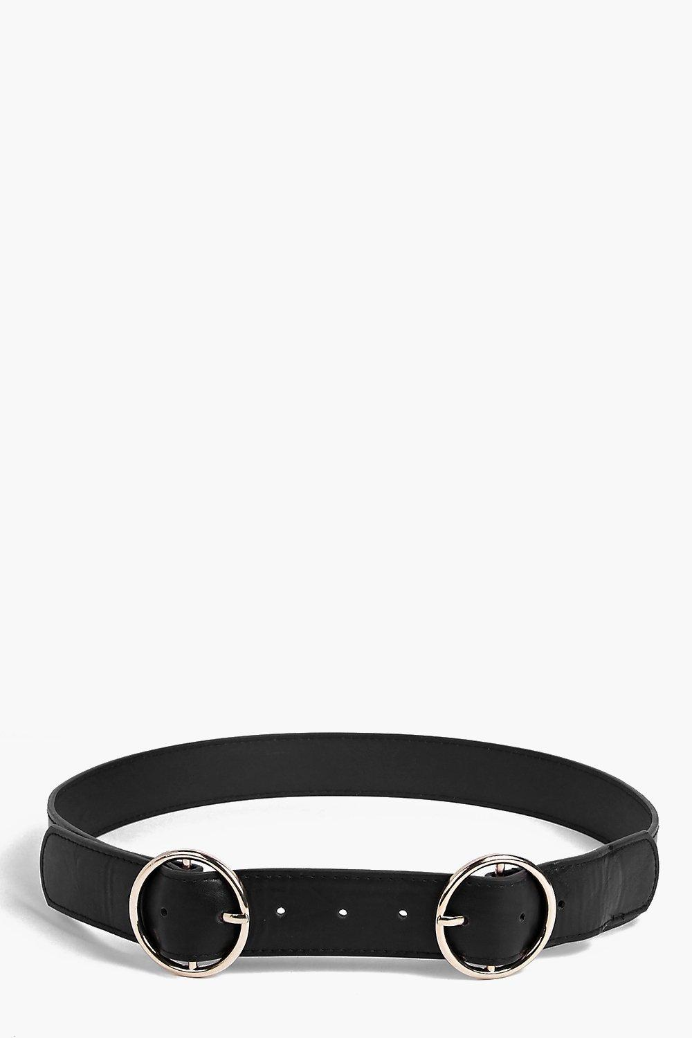 Laura Circle Double Buckle Belt