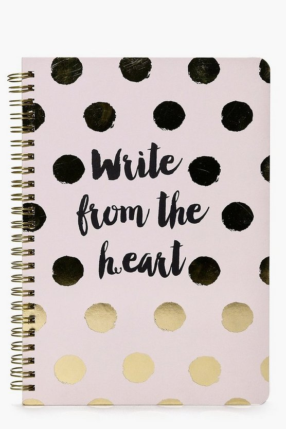 Write From The Heart Spotty Notebook