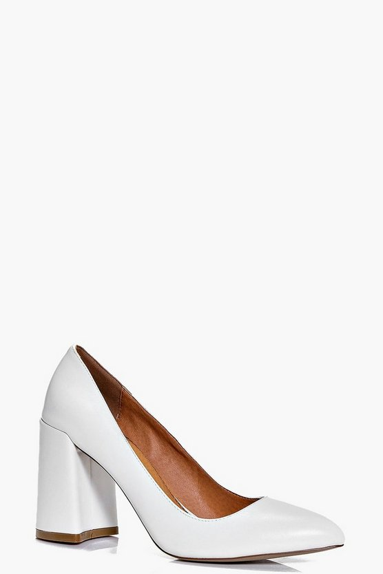 Violet Pointed Block Heel Court