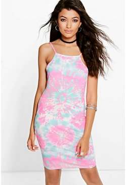 Betty Fluro Strappy Bodycon Dress