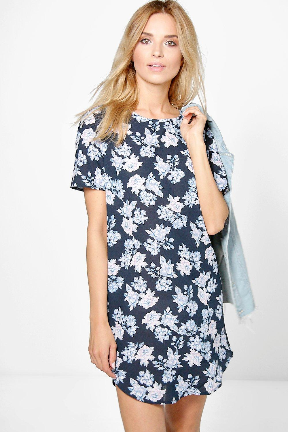 Jackie Floral Cap Sleeved Mini Bodycon Dress