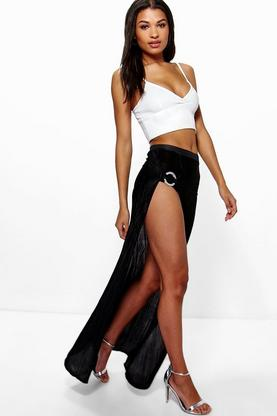 Pia Thigh Split Maxi Skirt