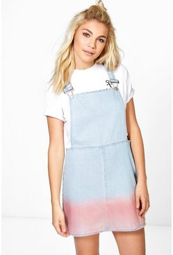 Bree Ombre Denim Pinafore Dress