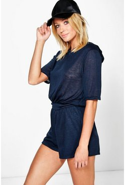 Juliette Hooded Knitted Playsuit
