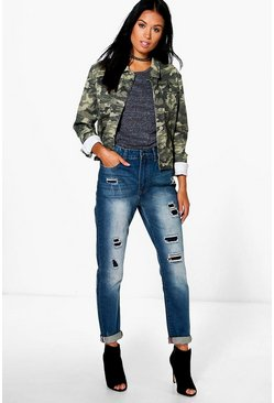 Susie High Rise Distressed Boyfriend Jeans