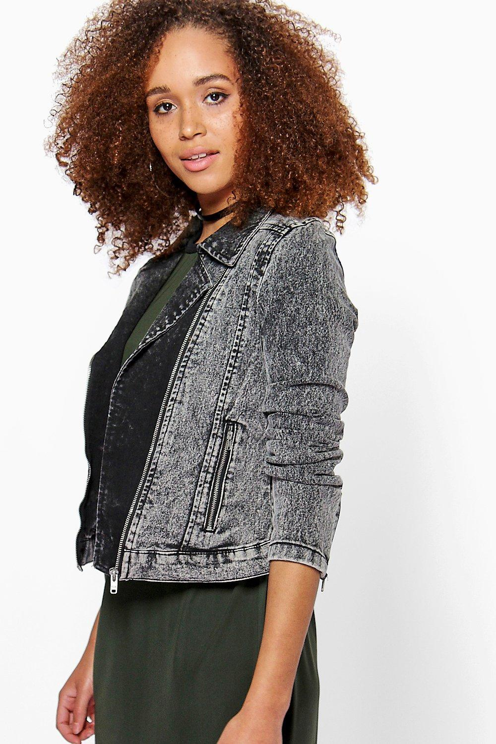 Olivia Denim Biker Jacket