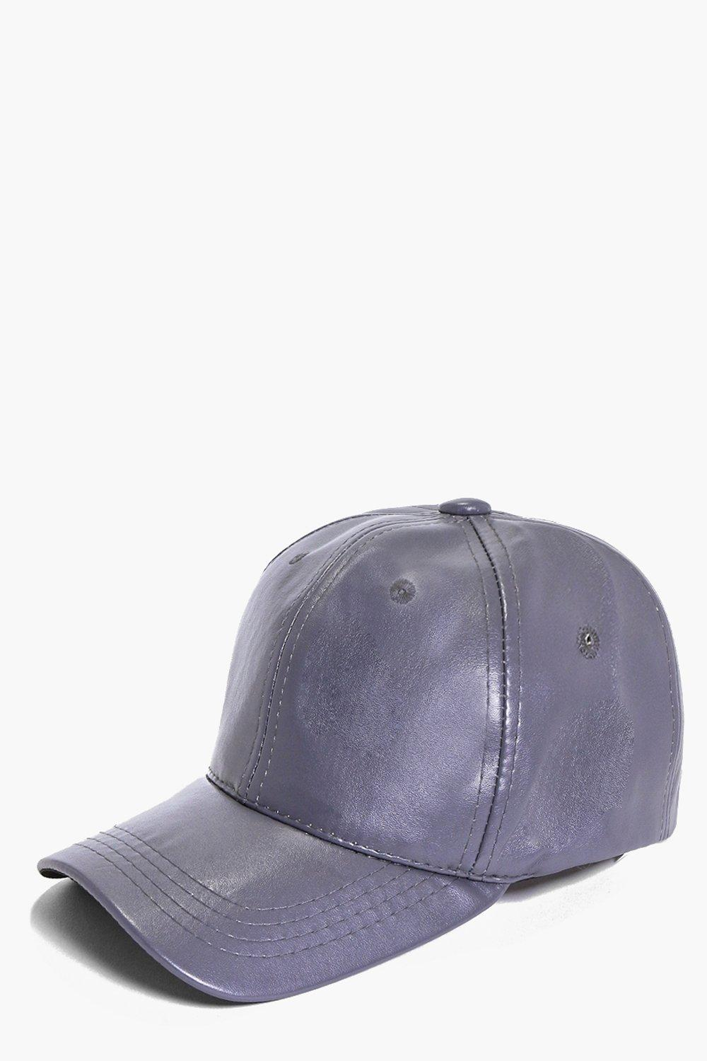 Zoe Leather Look Baseball Cap