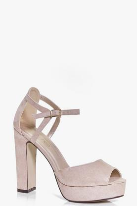 Betsy Peeptoe Platform Cut Work High Heel