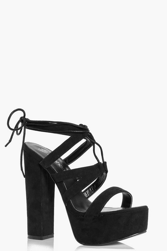 Nancy Cage Side Ghillie Platform Heel