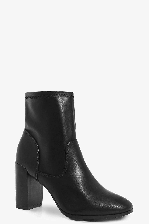 Felicity Block Heel Sock Boot