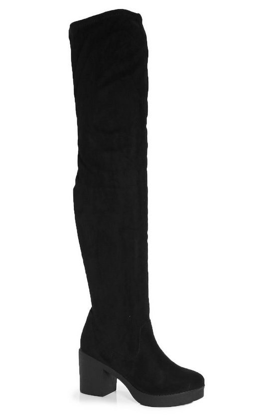 Lois Cleated Chunky Over The Knee Boot
