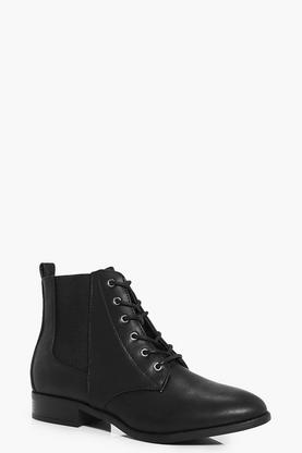 Clara Lace Up Chelsea Boot