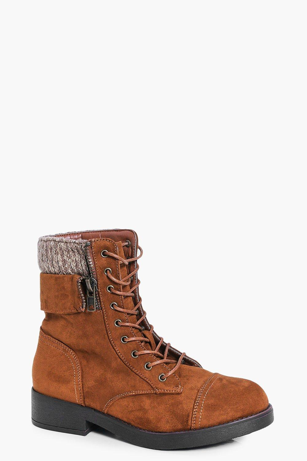 Claire Knitted Collar Zip Detail Hiker