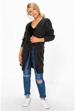 Erin Midi Length Marl Belted Cardigan