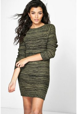 Maisie Crew Neck Marl Jumper Dress