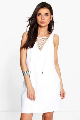 Savannah Lace Up Shift Dress