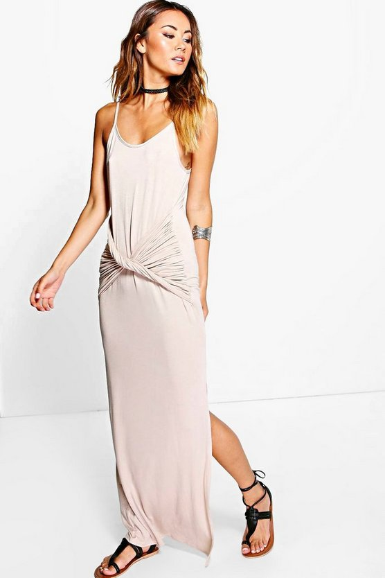 Lucy Strappy Knot Front Maxi Dress
