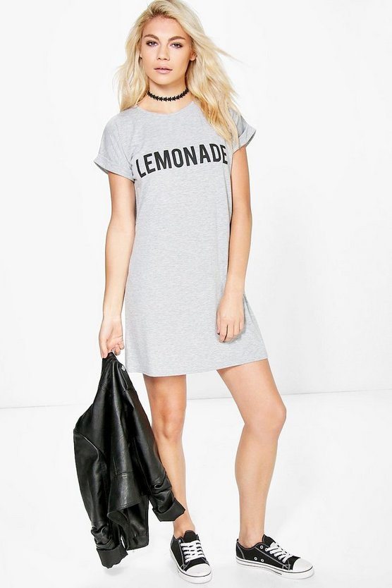 Lottie Lemonade Print Cap Sleeve Shift Dress