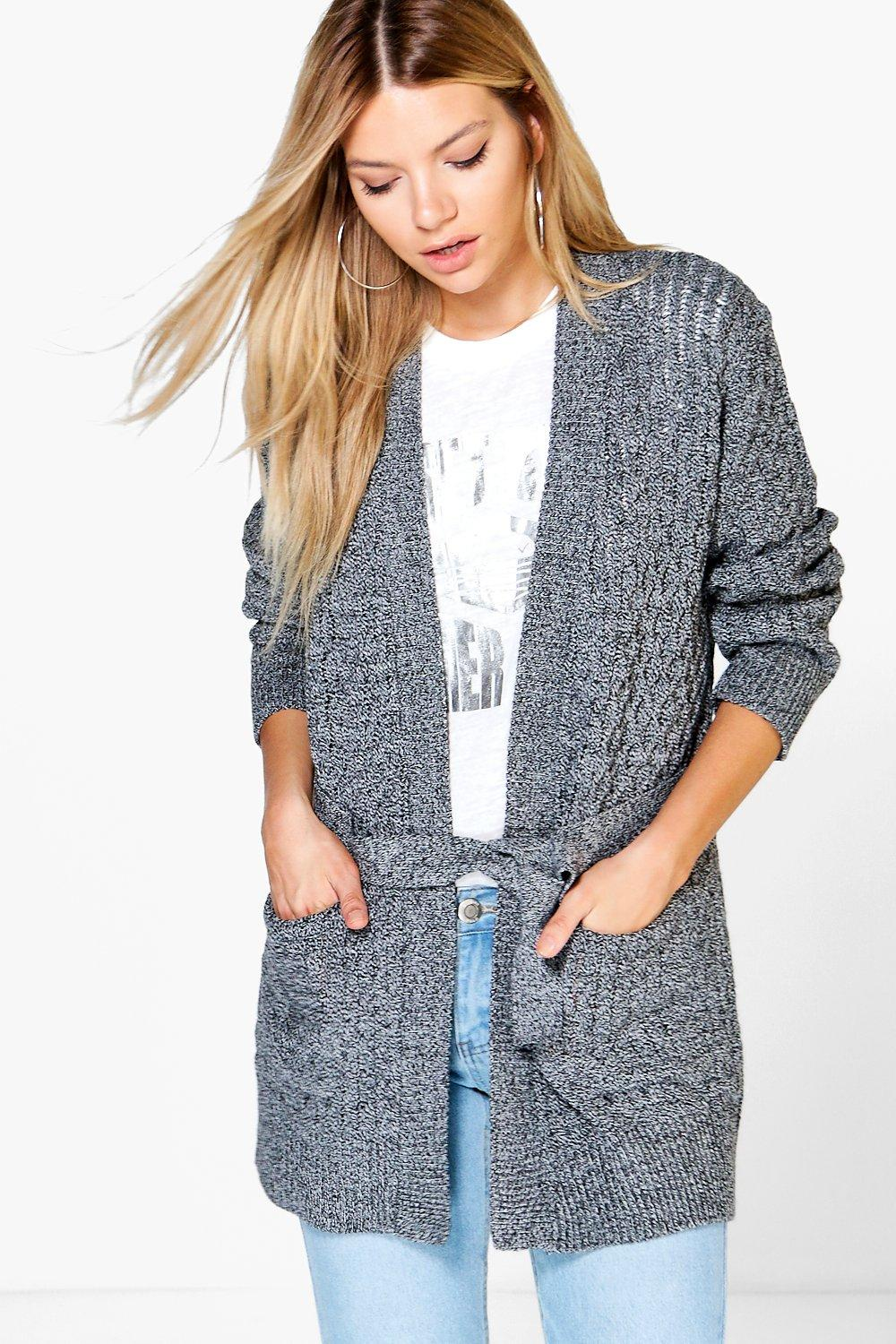 Leah Belted Cable Pocket Cardigan