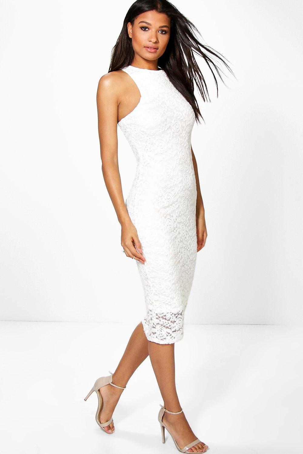 Aislinn All Over Lace Midi Dress