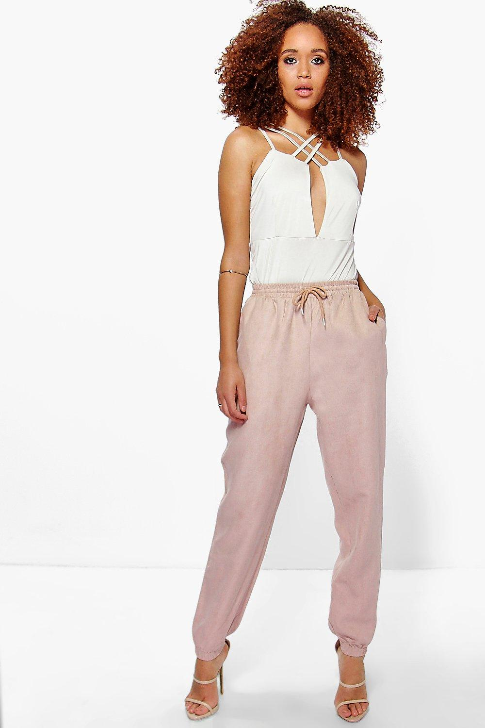 Willow Suedette Pocket Side Luxe Jogger