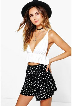Louise Star Print Flippy Shorts
