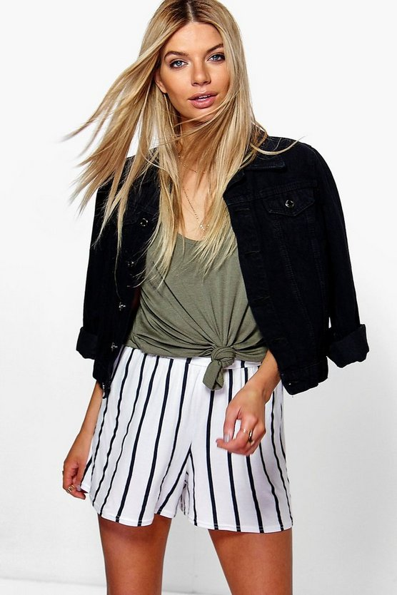 Molly Striped Flippy Shorts